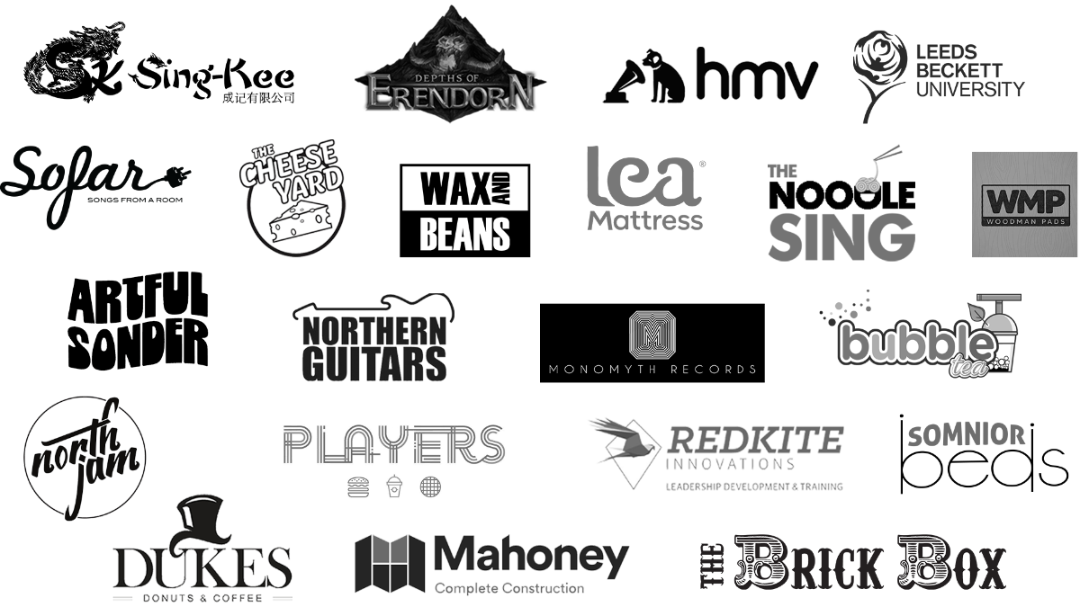 Logos of companies we have worked with
